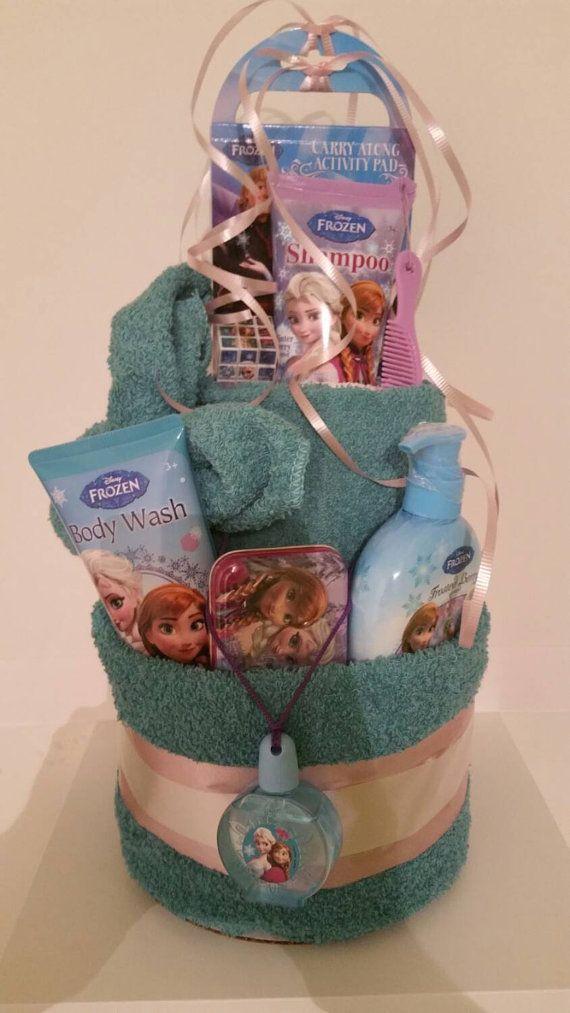 Ready To Ship Frozen Towel Cake Birthday Gift Frozen