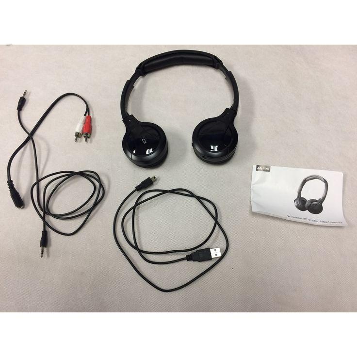Wireless TV Headphones Jelly Comb Wireless RF Stereo Headphones AS IS