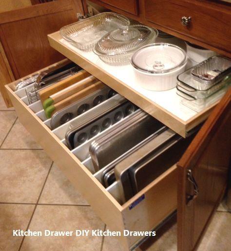 Kitchen Tools Vancouver: 15 Incredible Kitchen Drawer DIYs: 1. Three Layer Drawers