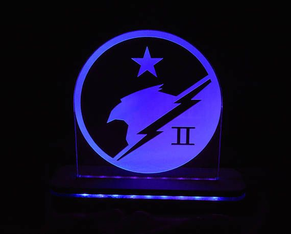 This Halo Blue Team LED light is a fan made design. Inspired by the Halo Blue Team, which is a combat sub-unit within the larger SPARTAN-II Division of the UNSC Naval Special Warfare Command. Perfect for any HALO Fan!  SIGNS ====== *Sign measures approximately 6 wide by 6 tall. *Made with Premium Grade, 1/4 thick, Acrylic. *Engraved and cut with a Commercial Grade, 60 Watt, Laser Engraver. *Our unique design is made with notches on the side of the Acrylic, s...