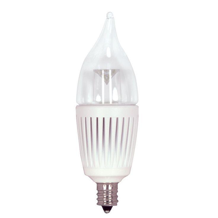KolourOne 2.7W Candelabra Flame Twist 2700K LED Dimmable Light Bulb