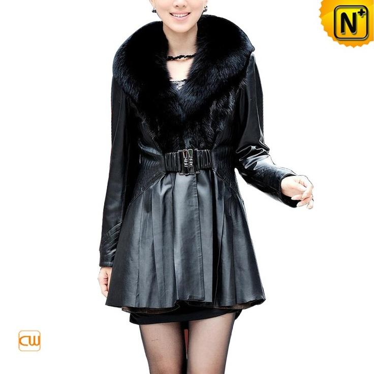 Women's Leather Coats Winter Designer Warm Mink Fur Leather Jackets CW671012 $697.67 - www.cwmalls.com