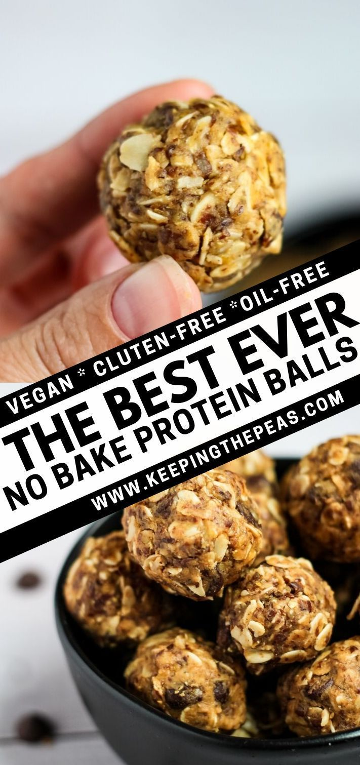 These Super Easy 5 Ingredient Vegan Protein Balls Can Be Whipped Together In Less Than 10 Minutes With O Protein Balls Healthy Protein Ball Vegan Energy Balls