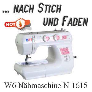 """Hier geht's zum Einsteigermodell, der W6 Nähmaschine N 1615 und den nahen """"Verwandten""""."""