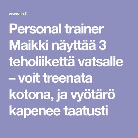 Personal trainer Maikki näyttää 3 teholiikettä vatsalle – voit treenata kotona, ja vyötärö kapenee taatusti