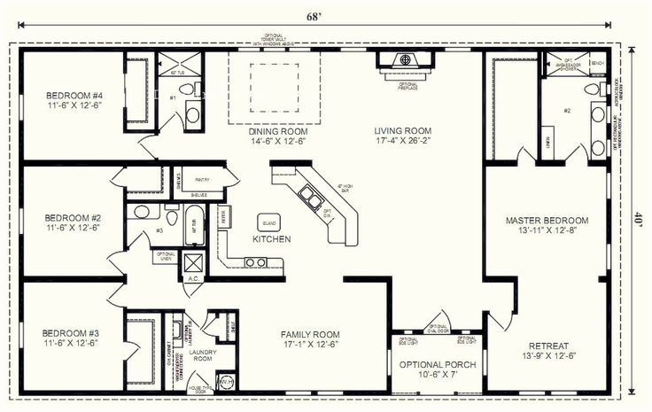 5 bedroom floor plans 1 story with bedroom floor plans one story ...