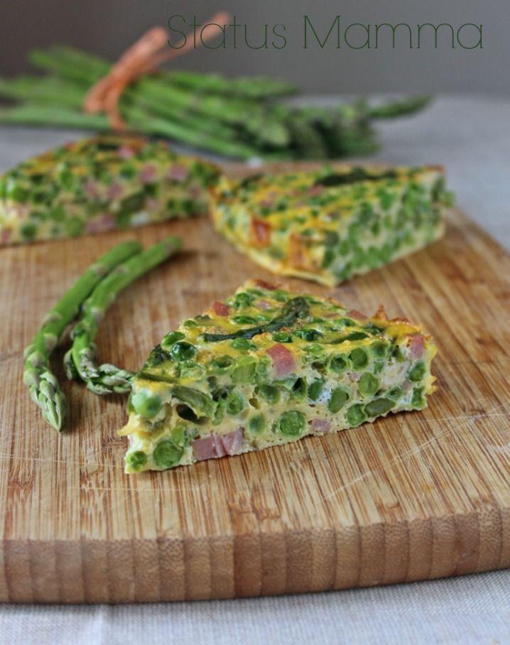 Tortino di asparagi e piselli cottura al forno