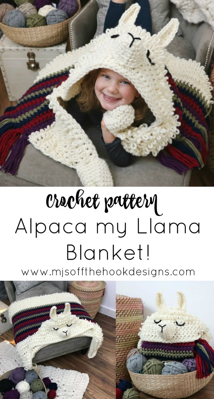 Alpaca My Llama Blanket Crochet Pattern Mj S Off The Hook Designs Crochet For Beginners Blanket Crochet Blanket Patterns Alpaca Blanket