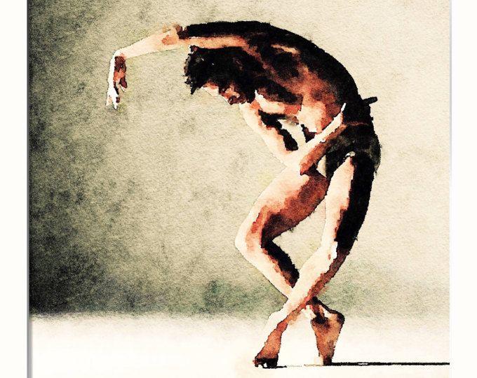 Danza pintura pintura de bailarina, Ballet, bailarín de pintura, imprimir acuarela, arte acuarela, imprimible de arte de pared, arte de imprimir