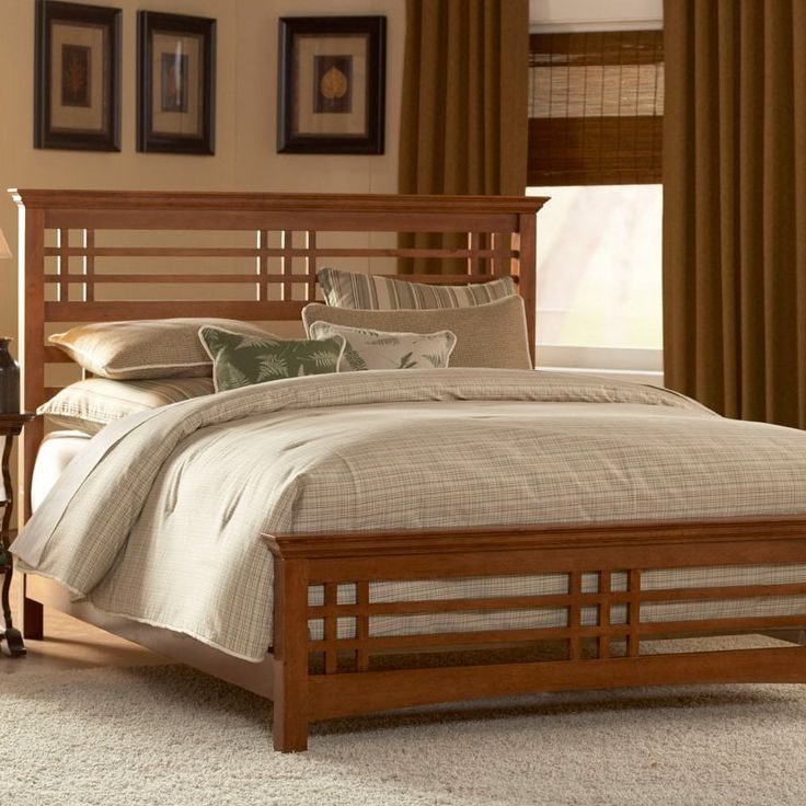 Mission Style Decorating | Avery Mission Style Oak Finish Bed Full, Queen  Or King