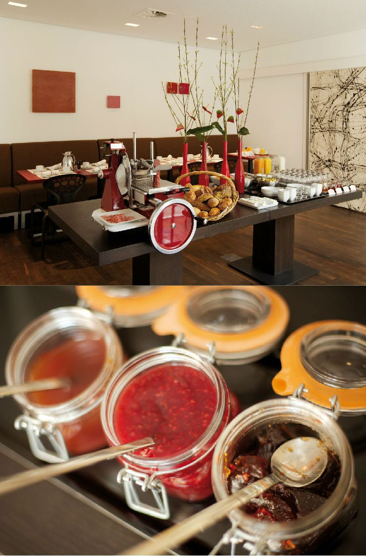 Art  Businness Hotel | Art  Design Hotel | Germany | http://lifestylehotels.net/en/art-business-hotel | restaurant, breakfast, buffet, food, jam