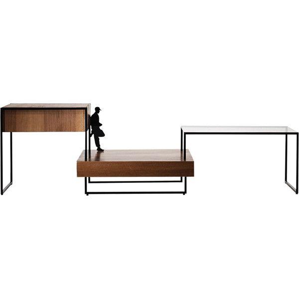 Giacomo Moor Atlantis Oak Coffee Table ($3,800) ❤ Liked On Polyvore  Featuring Home,