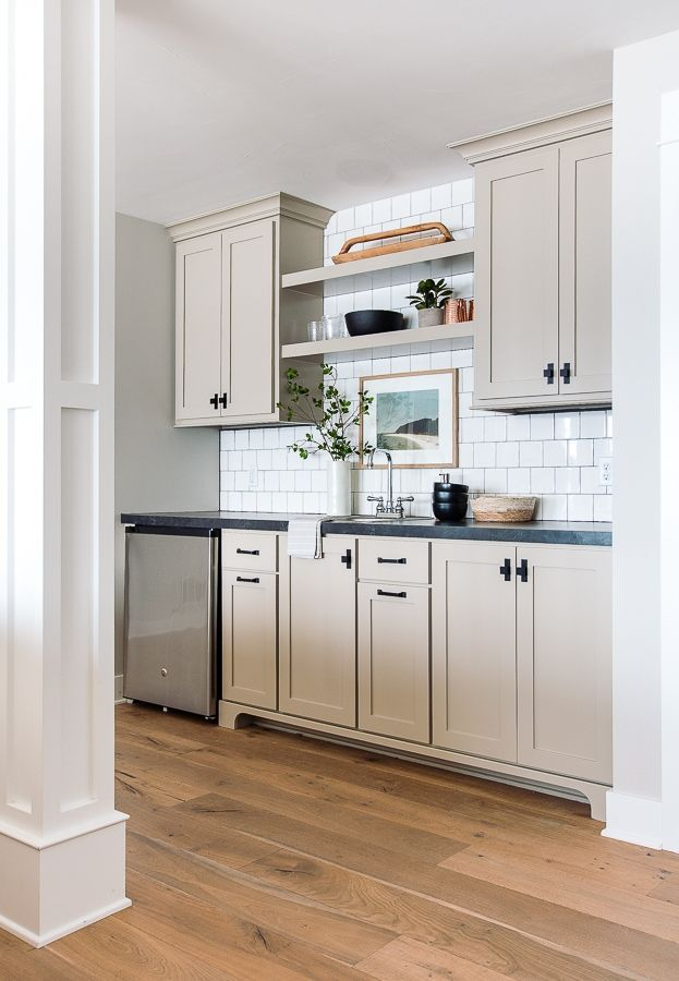 Putty Colored Cabinets And Cabinet Painting Tips Beige Kitchen Cabinets Beige Kitchen Taupe Kitchen Cabinets