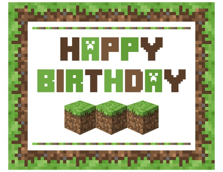 It's just a photo of Accomplished Minecraft Birthday Banner Free Printable