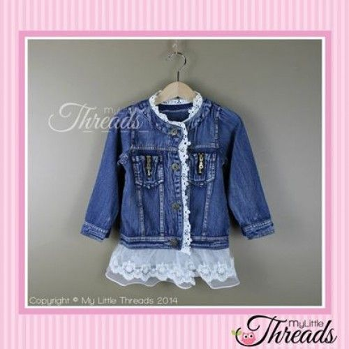 Dark Blue Denim with white Lace (it's a lovely soft denim so it wont restrict movement)