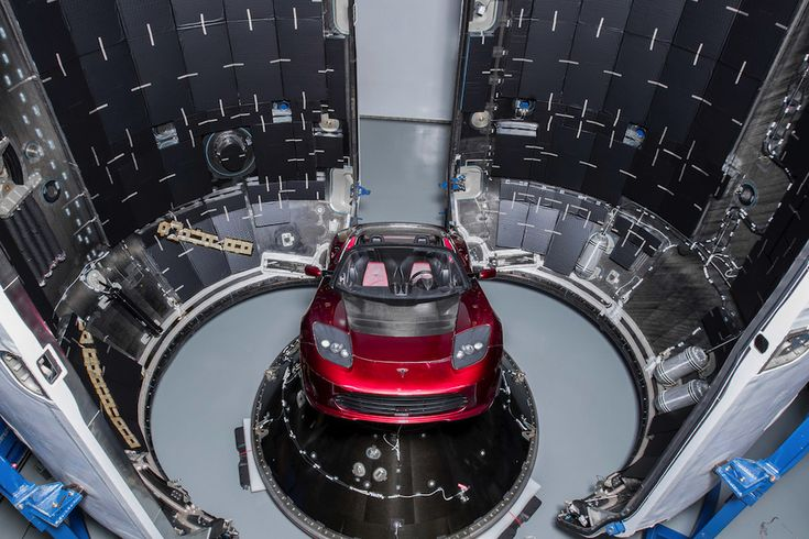 Photos: Elon Musk's Tesla Roadster prepped for one-way trip to deep space – Spaceflight Now   7.2. 2018,  www.netkaup.is NCO eCommerce, IoT www.nco.is