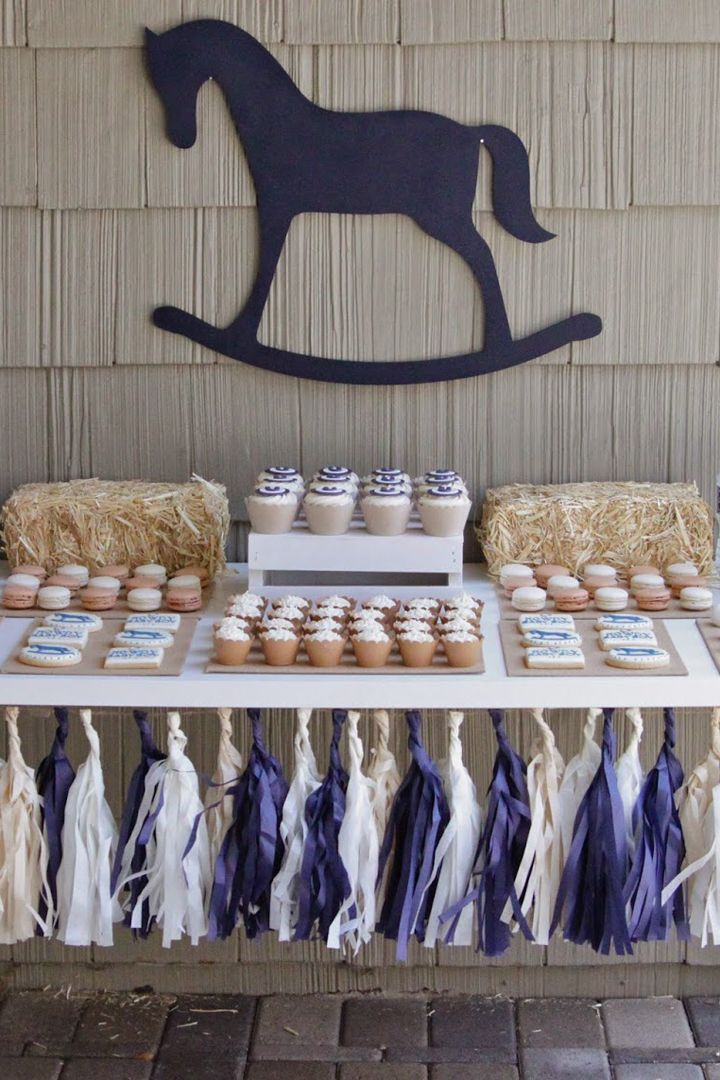 This Vintage Rocking-Horse Baby Shower Is the Ultimate Hoedown Celebration