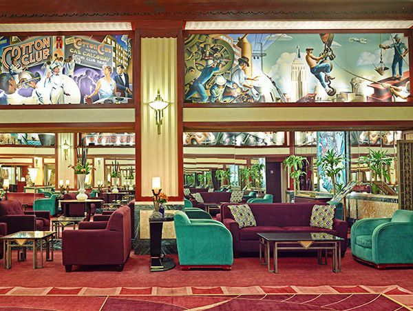 The Hotel Edison New York City Built In 1931 And Renovated This Features Art Deco Murals