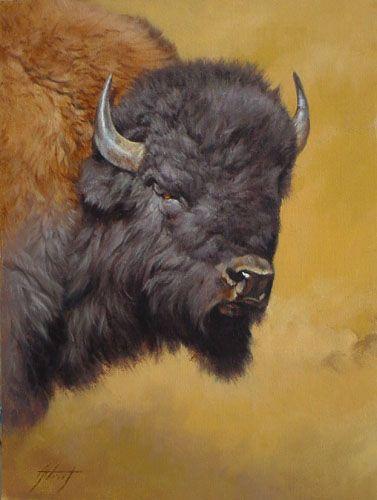 Beautiful Buffalo picture  Edward Adrich, Artist