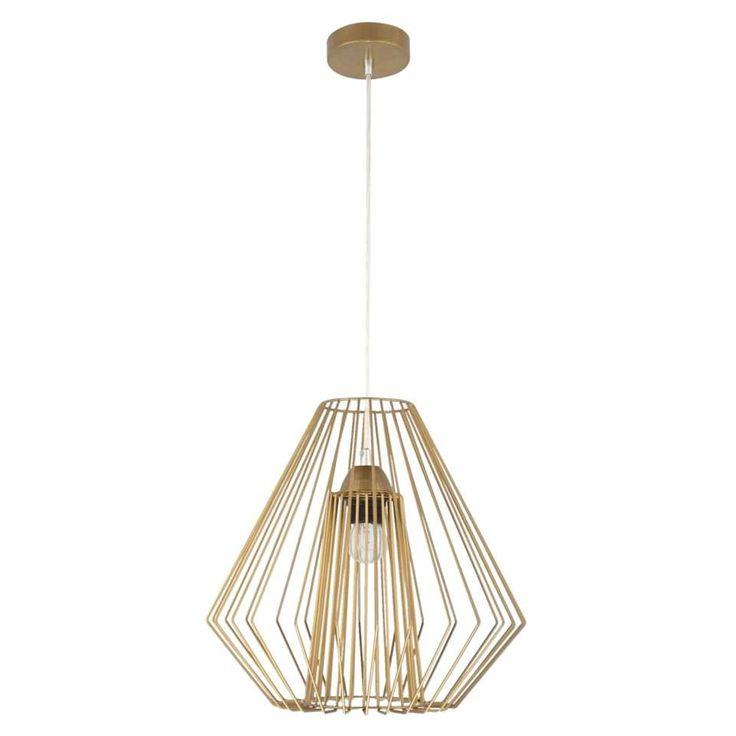 Hanglamp Julia - messing - 35x28 cm | Leen Bakker