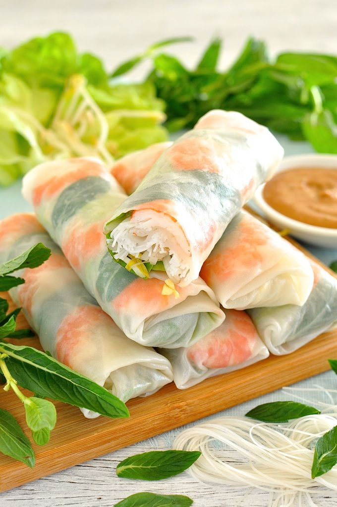 ... Sauces, Spring Rolls, Healthy Fresh, Rolls Spring, Rice Paper Rolls