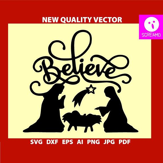 CHRISTMAS BELIEVE SVG vector Christmas svg dxf cut files