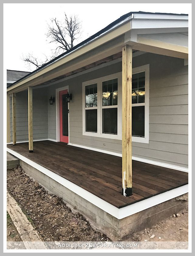 84 Reference Of Deck Over Concrete Patio Two Level In 2020 Porch Design Front Porch Remodel Porch Remodel