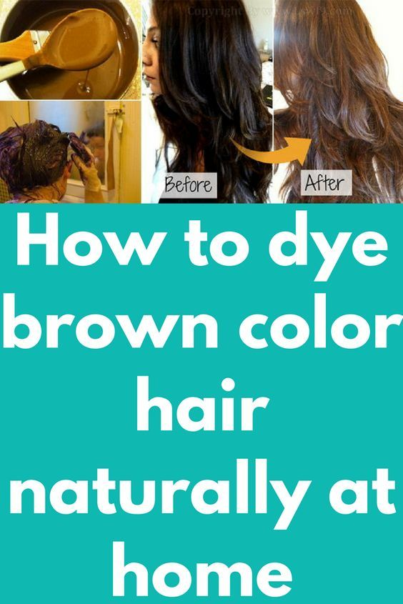 How to dye brown color hair naturally at home | hair styles | Dyed ...