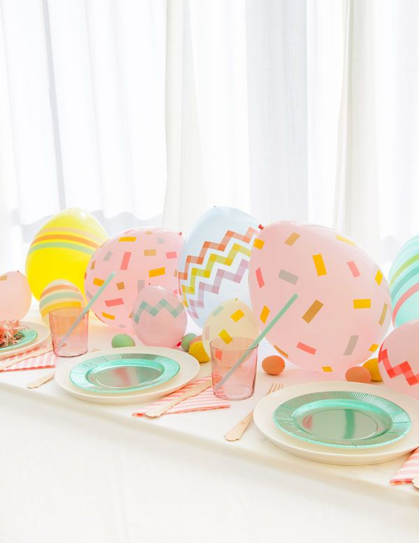 Balloon Easter Egg Centerpiece   Oh Happy Day!