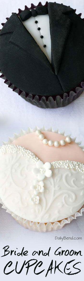 Bride and Groom Cupcakes Wedding Trend | DailyBend.com