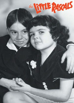 Darla and Alfalfa The Little Rascals - never was really crazy about this show but sometimes it was the only thing on. We only had 3 channels back then you know...