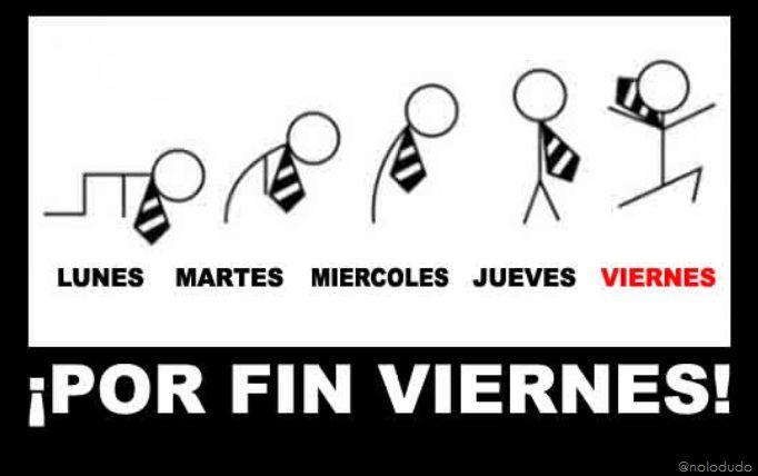 Por fin es #viernes. Finally #Friday!
