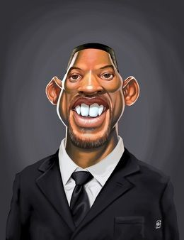 Will Smith by robart at zippi.co.uk art | decor | wall art | inspiration | caricature | home decor | idea | humor | gifts