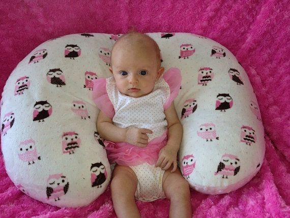 Adorable Owls Minky Nursing Pillow Cover by tarascozycreations