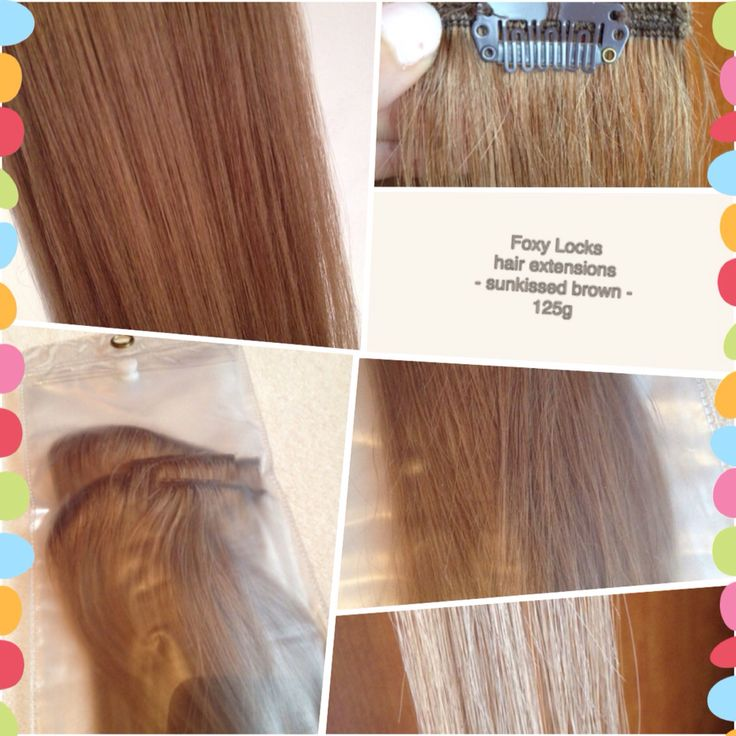 Foxy Locks hair extensions Sunkissed brown 125g
