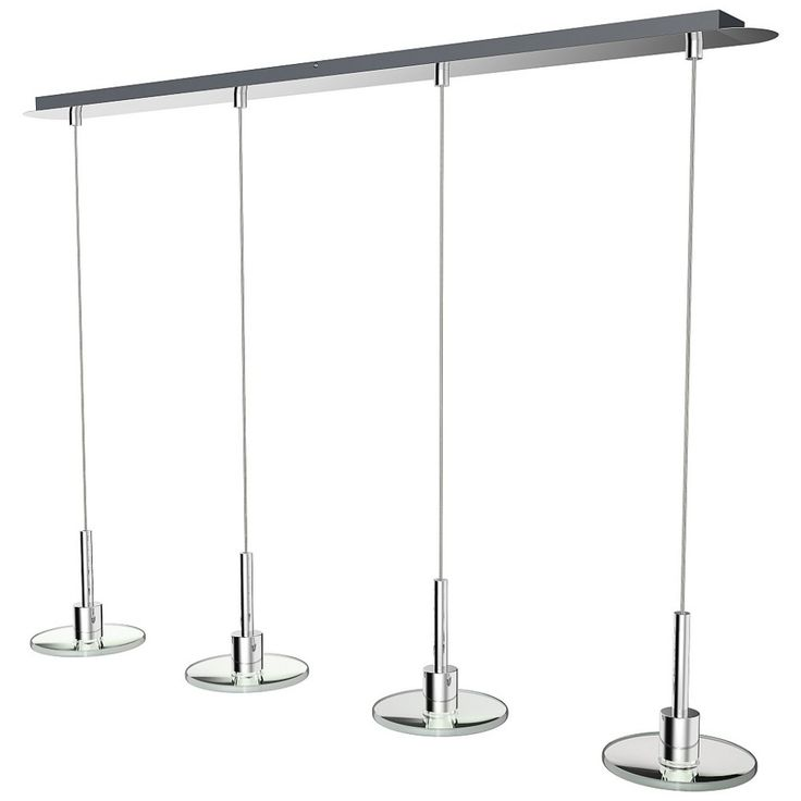 Stilvolle 4er LED Hängeleuchte höhenverstellbar 27465 Deckenleuchte Pendelleuchte Esszimmer Leucht | LichtErlebnisse