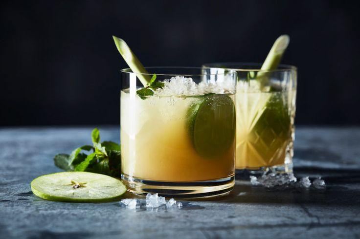 Alkoholfri äppelmojito med citrongräs