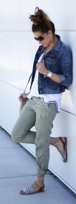 Love this..jacket/shirt/Cargo Pants Styling