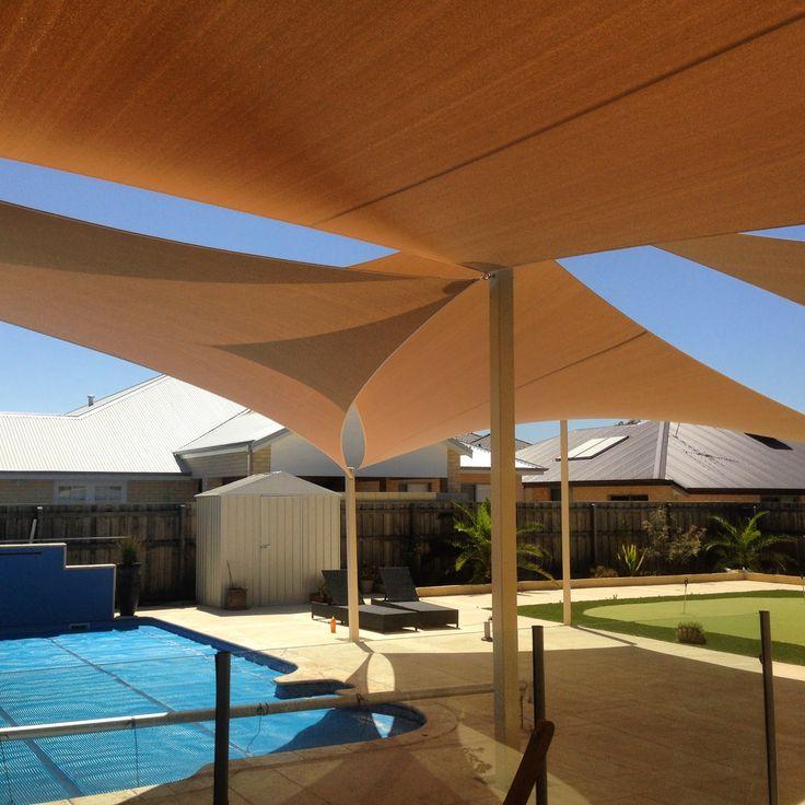 Pool shade sails.  www.oneshade.com.au