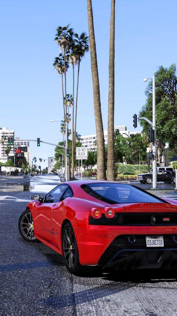 Gta V Red Ferrari Moshnye Avtomobili Videoigry Avtomobili