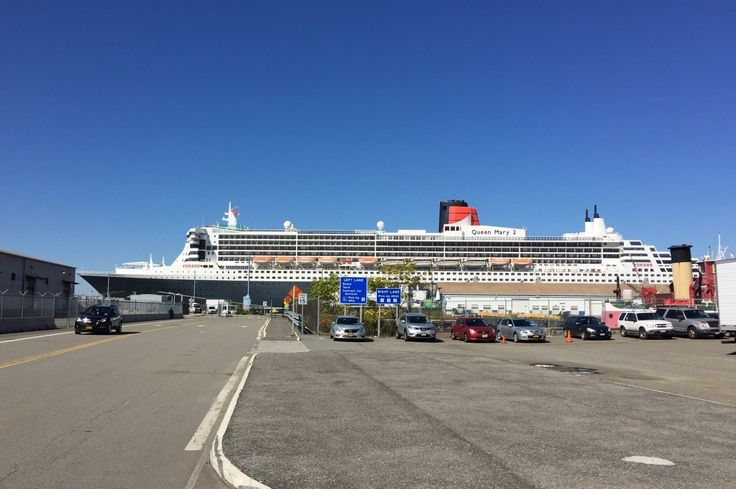 Boarding the Queen Mary 2 for a transatlantic cruise at Brooklyn Cruise Terminal