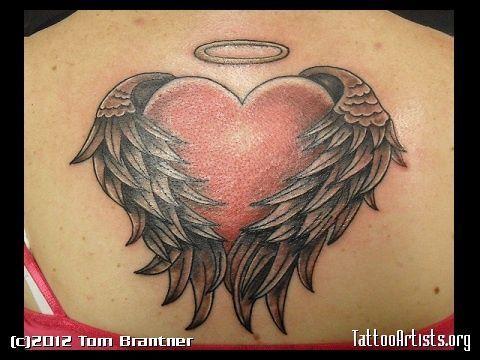 Heart with Angel Wings Tattoo | Angel Heart