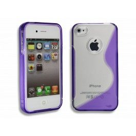 GRATIS iPhone 4(S) TPU S-Line Half Paars - Hoesjes - iPhone 4(S) - Telefoon Accessoires. Gratis iPhone Hoesje