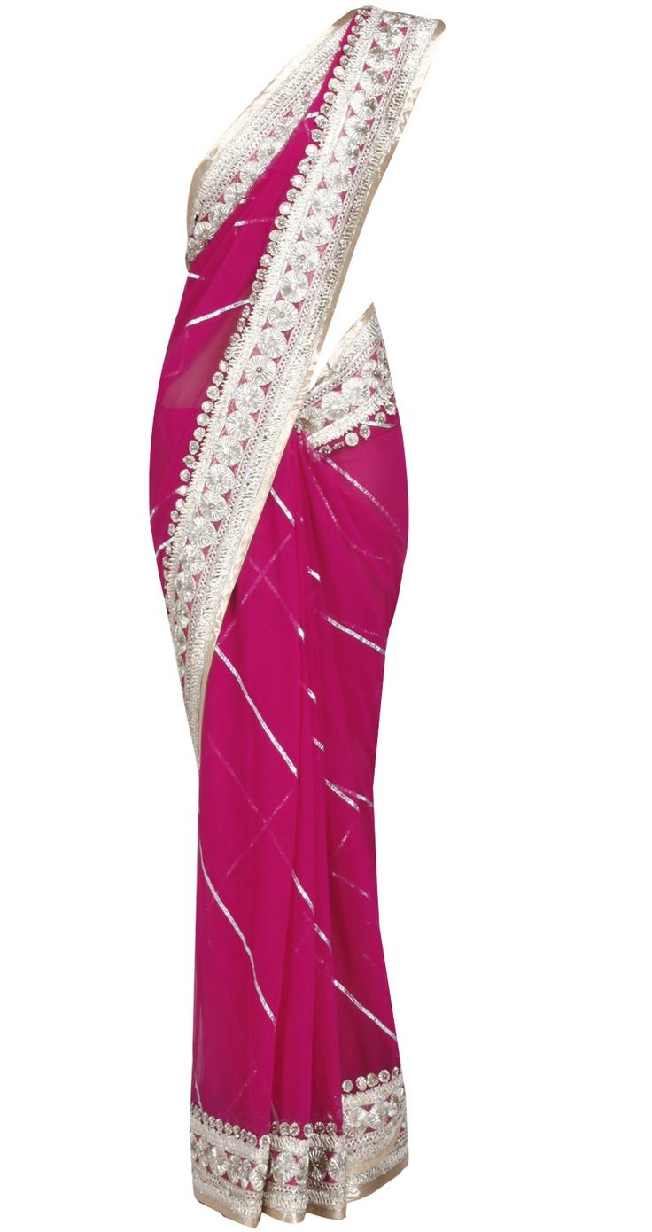 Rohit Bal pink sari