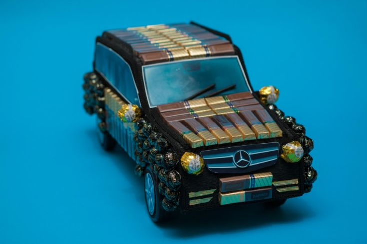 Конфетный автомобиль (МК от Elena Ermakova)