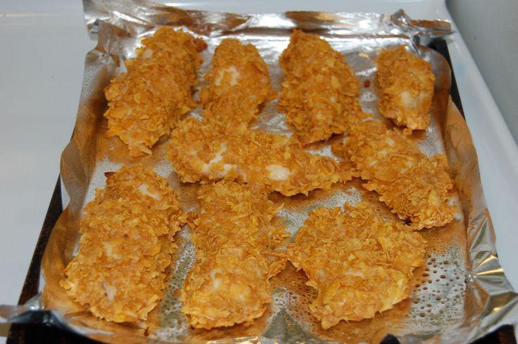 Yaya's Everyday Kitchen Magic: Oven Baked Corn Flake Crusted Chicken