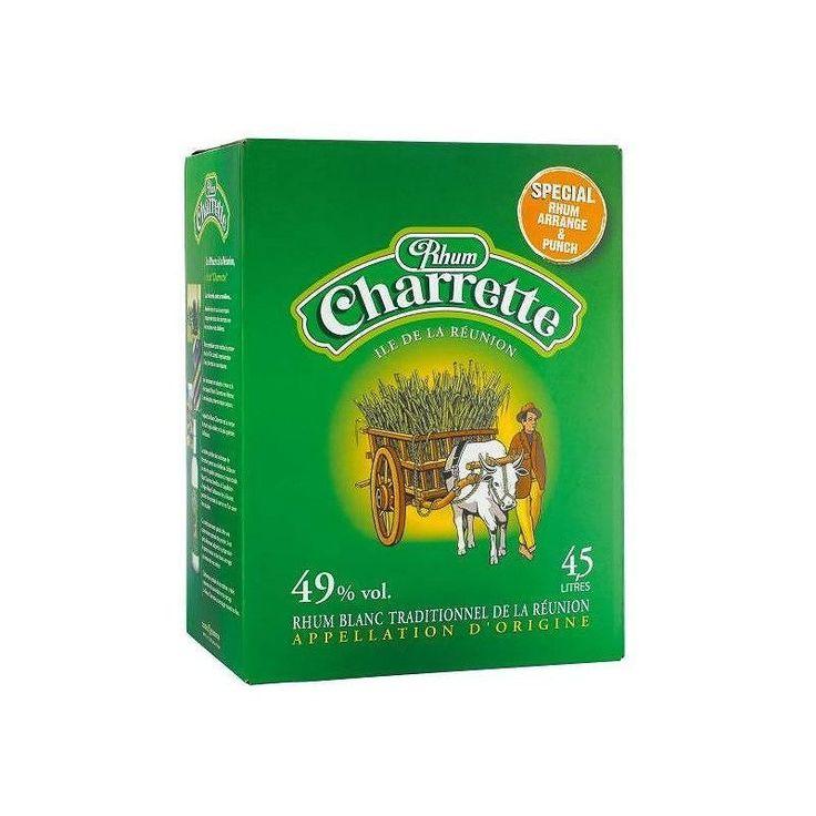 Cubi rhum Charette de la Réunion disponible sur www.yumhbox.com