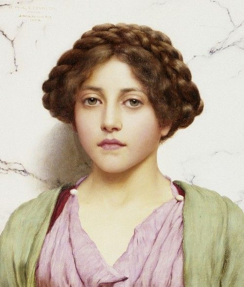 John William Godward, 1909, A Young Beauty