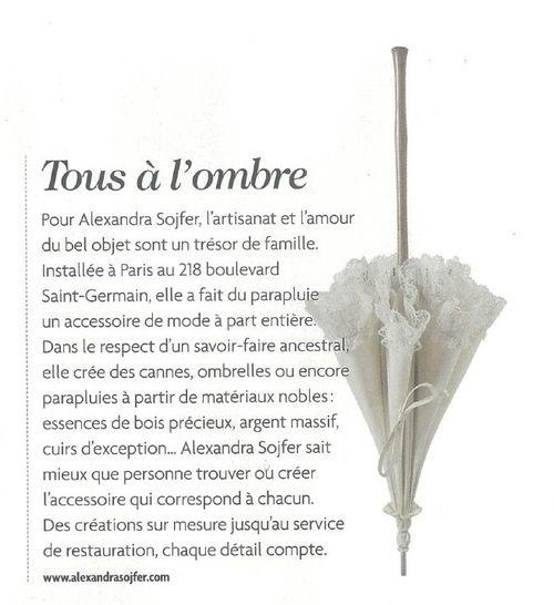 In the shade! Beautiful Alexandra Sojfer parasol in MARIÉE MAGAZINE - 2013