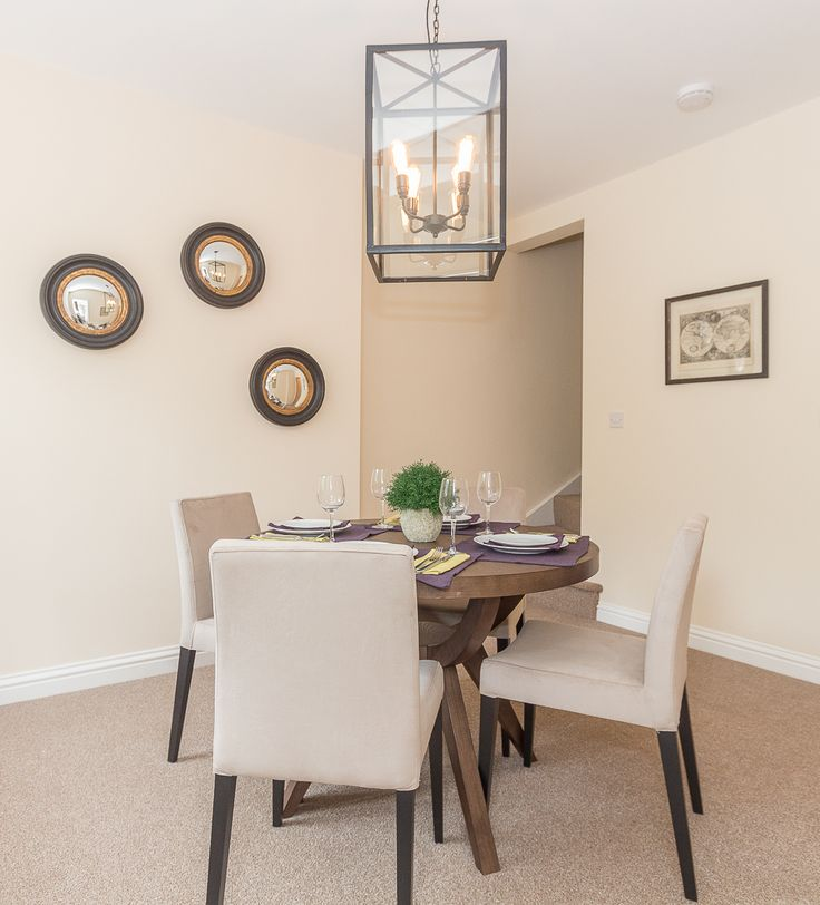 Woodside Show Home - small dining room in Worcestershire  development.  Interior design by Bayswater Interiors.